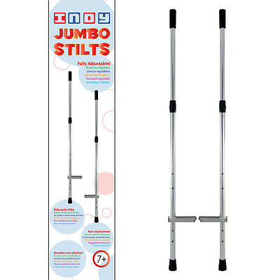 Indy jumbo aluminium adjustable hand held walking stilts