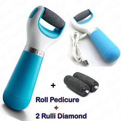 SET Roll Ricaricabile Pedicure Impermeabile VELVET Più 2 Rulli Smooth WET & DRY