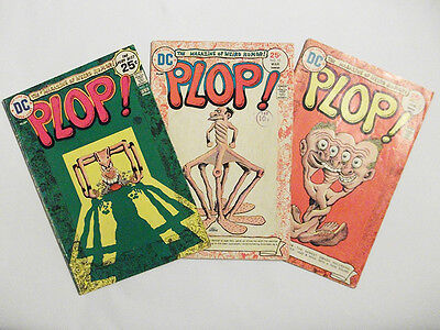 PLOP comic - Vol 3 issues 9, 10 & 11 ( D.C. 1975  - Bronze Age )