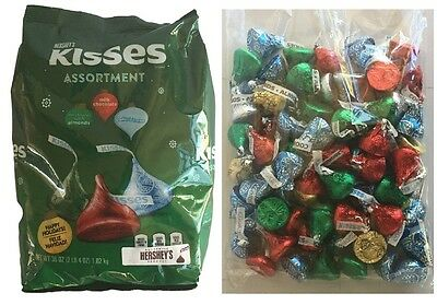 BULK 1.02kg x HERSHEYS KISSES ASSORMENT MILK ALMOND COOKIES N CREM CHOCOLATE