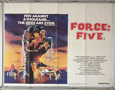 Cinema Poster: FORCE FIVE 1981 (Quad) Richard Norton Robert Clouse