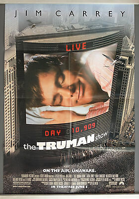 Cinema Poster: TRUMAN SHOW, THE 1998 (Main One Sheet) Jim Carrey Laura Linney