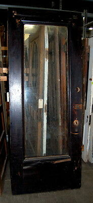 Antique 1900s Oak Full Light Egg & Dart Entry Door, Architectural Salvage