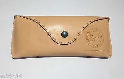 Fall Original Ray-Ban mod Aviator Case Echtes Leder Hand Made echtes Leder