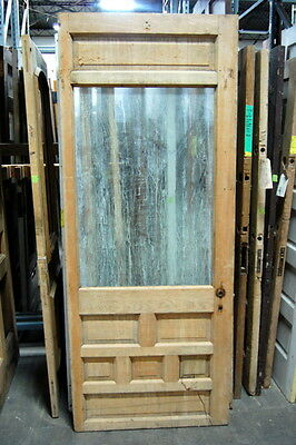 Antique 1890s Half-Light, Starburst Pattern Pine Cottage Door