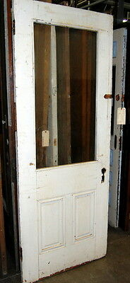 Antique 1890s Half Light Pine Cottage Door, Architectural Salvage