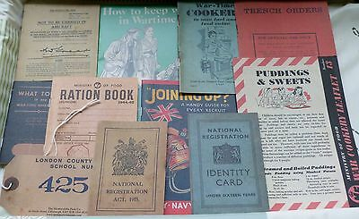 Replica Pack - Leaflets - Booklets - Ration Book - ID Tag - World War 1 and 2