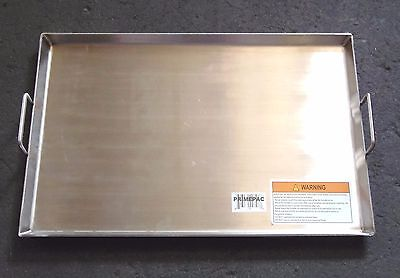 HEAVY DUTY 19.75 x 13 inch Stainless Steel Griddle for BBQ, Stove or Fire pit