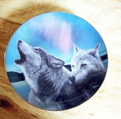 Wolf Collector Plate Bradford Exchange Moon Glow 1997 Realm of Wolves Animal