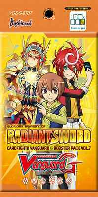 Cardfight!! Vanguard G - Glorious Bravery Of Radiant  Sword Booster Pack 15% Off