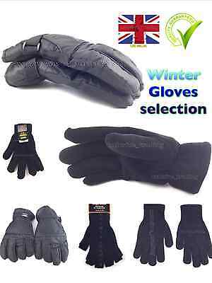 Thermal gloves Thinsulate Fleece fingerless Ski gripper black magic glove unisex