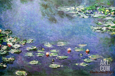 Waterlilies Poster Print by Claude Monet, 36x24