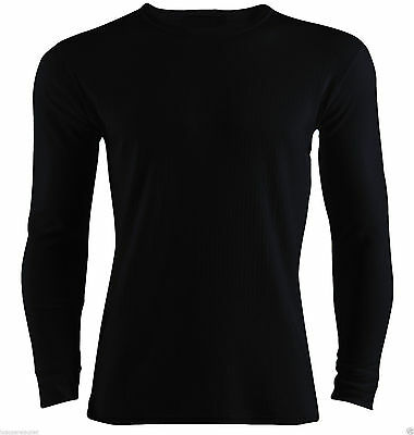 Mens Heat Control Thermal Long Sleeve T-Shirts  Winter Warm Underwear Top