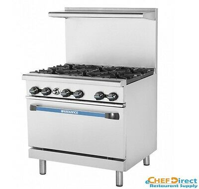 "Turbo Air TAR-6 Radiance 36"" 6 Burner Gas Range With Standard Oven"
