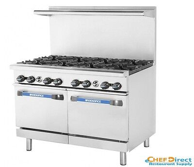 "Turbo Air TAR-8 Radiance 48"" 8 Burner Gas Range With Standard Oven"