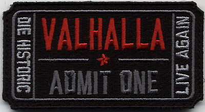 Tactical Ticket to Valhalla VELCRO® BRAND Hook Fastener Patch Parche