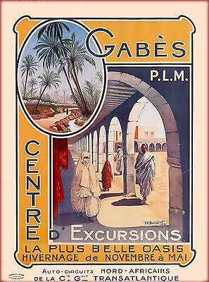 North Africa African Morocco Algeria Vintage Travel Art Poster Advertisement