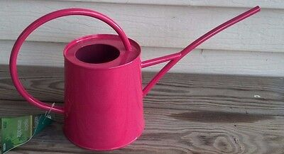 Wonderful Classic Shape Galvanized Metal Watering Can 1/2 Gallon New Dark Pink**