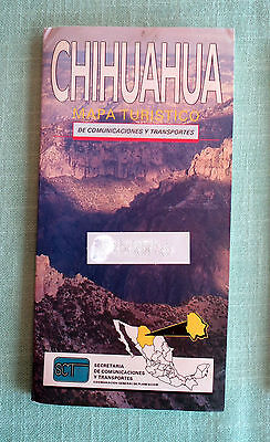 CHIHUAHUA Mexico***SCARCE out-of-print SCT Road Map, 1994, unused