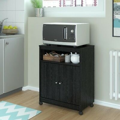 Microwave Cart With Storage Kitchen Stand Rolling Cabinet Shelf ...