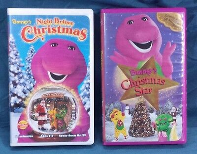 Barney's Christmas Star - Night Before Christmas VHS Tapes Kids Holiday Movies