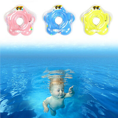 New Inflatable Circle Newborn Neck Float Baby Infant Swimming Swim Ring Safety