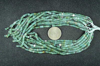 Ancient Roman Glass Heishi Beads 1 Strand 100- 200 Bc 652