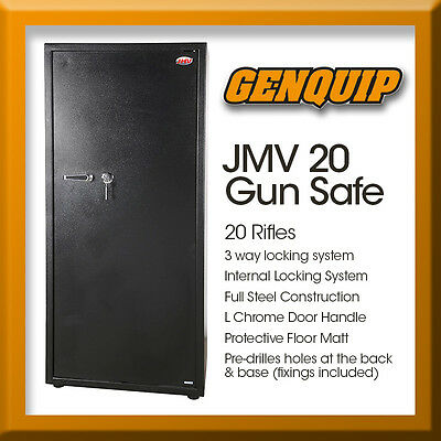 JMV 20 Gun Safe Firearm Rifle Storage Lock box Steel Cabinet Heavy Duty Locker