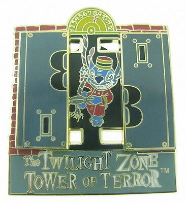 2008 Disney Twilight Zone Tower of Terror Stitch Causing Trouble 3D Pin