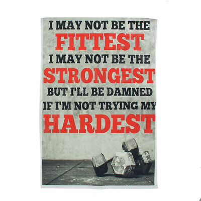 Bodybuilding Fitness Stronger Hardest Motivational Quotes Silk Poster Gym Decor