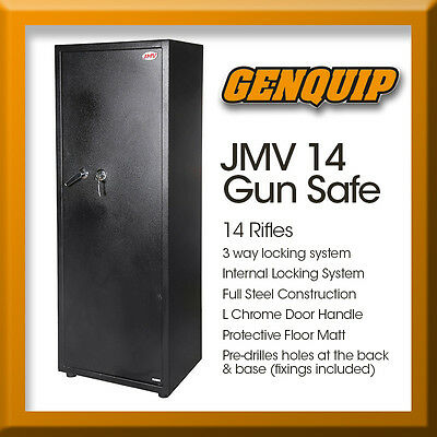 14 Rifle Storage Gun Safe Firearm Security Lock box Steel Cabinet Heavy Duty