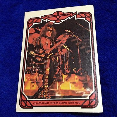 Vintage KISS Trading Card #8 Gene Simmons 1978 Aucoin