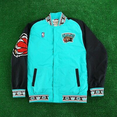 14f7d67ed65 1995-96 Vancouver Grizzlies MITCHELL   NESS Authentic Teal Warm Up Jacket  Men s
