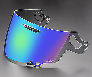 Genuine Arai VAS-V RX-7V Visor Coated Green Iridium Shield Track Race Motorcycle