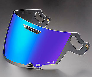 Genuine Arai VAS-V RX-7V Visor Coated Blue Iridium Shield Track Race Motorcycle