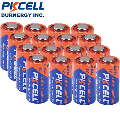 16 x 4LR44 6V Batteries Alkaline PX28A 476A A544 4A76 Battery By Eunicell 0% Hg