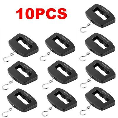 10pcs Portable 50/10g Digital LCD Electronic Luggage Hanging Weight Scale LOT A