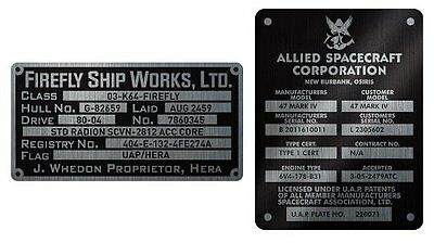Quantum Mechanix Firefly Builders Plaques Metalized Sticker Set New