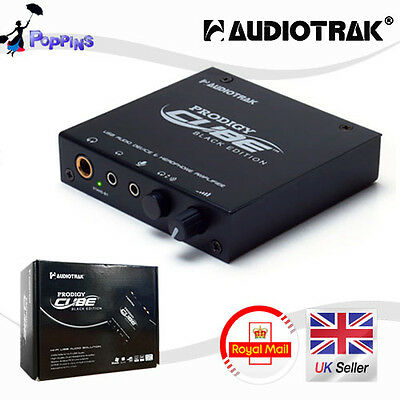 New AUDIOTRAK Prodigy CUBE BLACK EDITION External USB Sound Card