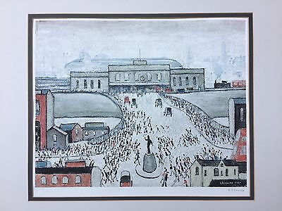 L S Lowry Signed Limited Edition Print Station Approach