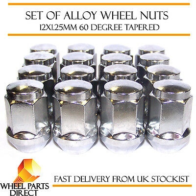 Alloy Wheel Nuts (16) 12x1.25 Bolts Tapered for Suzuki Wagon R Plus 00-07