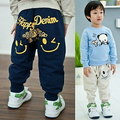 0-5Y Baby Kids Infant Boy Girl Harem Long Jogger Pants Trousers Bottoms Leggings
