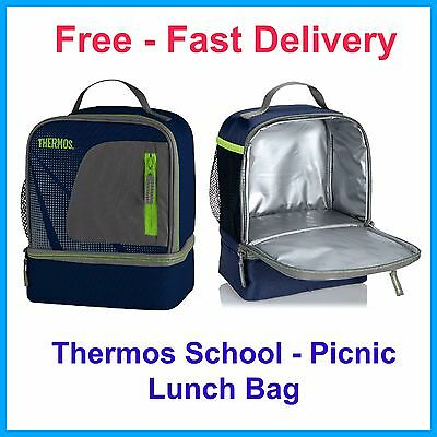 Thermos Lunch Box Kit Food Storage Insulation Travel Bag Picnic Childrens School
