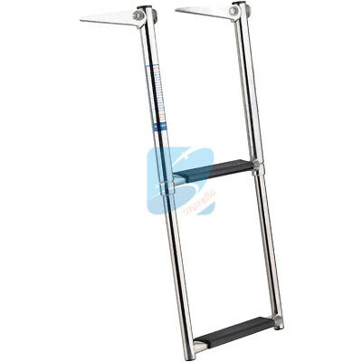 2 Steps Boat Boarding Telescoping Ladder Stainless Steel Marine Swim Drop Ladder