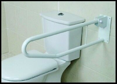 Wall Safety Support Hand Rail Drop Down Fold Metal Bar Toilet Disabled Bath Bed