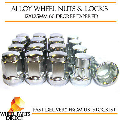 Wheel Nuts & Locks (12+4) 12x1.25 Bolts for Volvo 360 83-91
