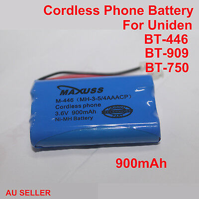 Cordless Phone Battery For Uniden BT-446 BT-909 BT-750 Genuine 900mAh 3.6V