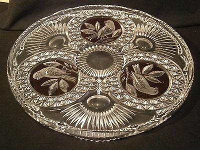 Vintage Hofbauer Crystal Cake Plate/Tray