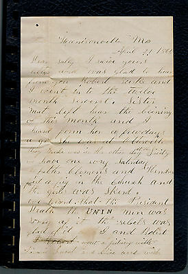 APRIL 21,1865 Soldier's Civil War Letters-Reactions to Lincoln's Death-SOLDIERS
