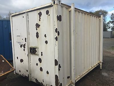 12ft x 8ft Steel Store Container with jacklegs